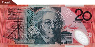 Australian 20 dollar note