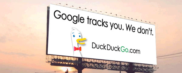 Google tracks you, we don't